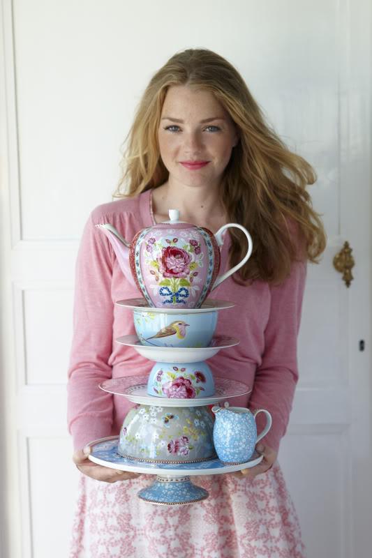 Love Bird Blue Bowl Set of 4