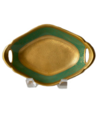 Pickard Heirloom Estate Gold Encrusted Green Bowl