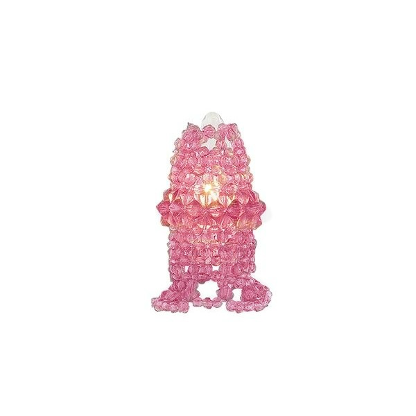 Paris Pink Chic Beaded Chandelier Light Bulb Cover