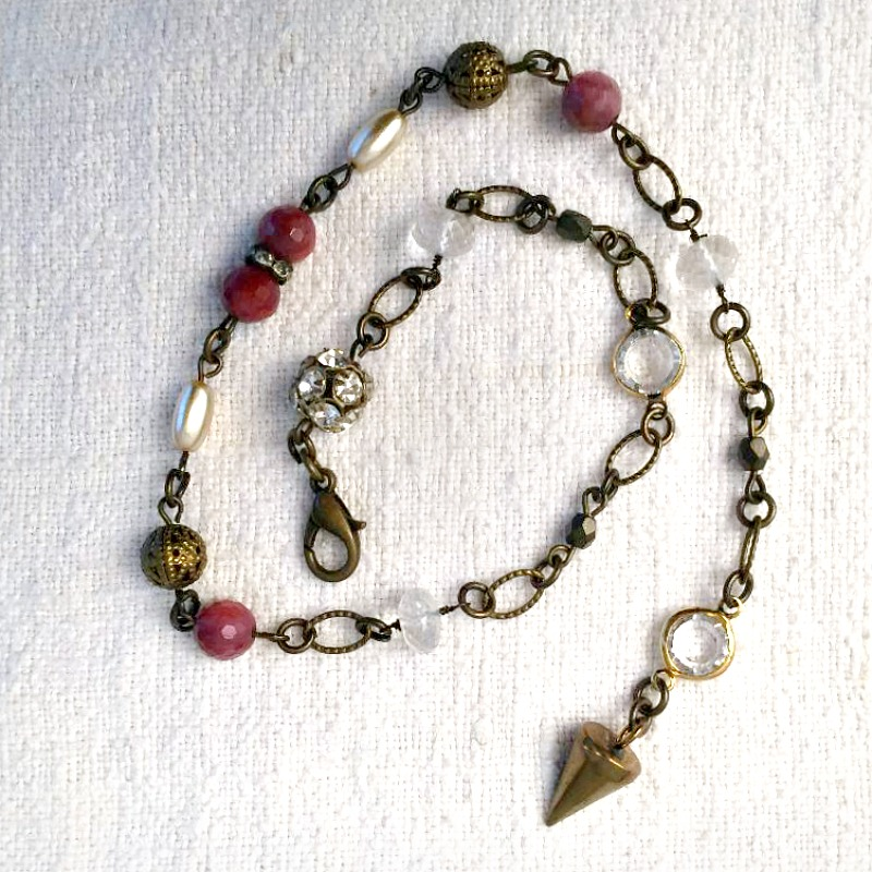Georgia Hecht One Of A Kind Rodonite & Pearl Wrap Bracelet