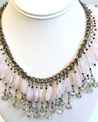 Vintage Sparkling Pink Magic Necklace