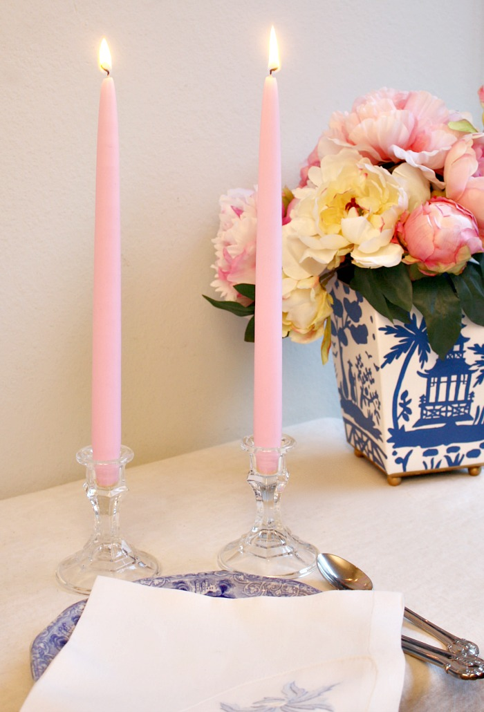 Hand Dipped Taper Candles Gift Set Paris Ballet Rose