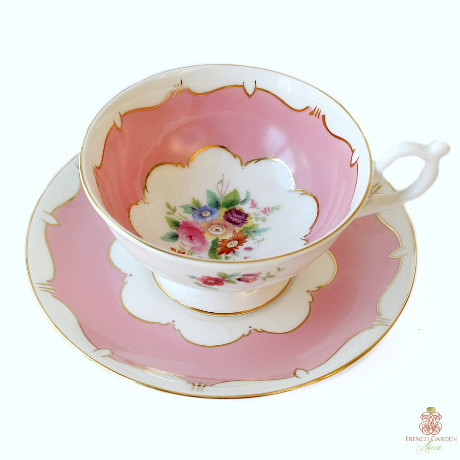 Coalport Fine Quality Pink Hand Painted Tea Cup