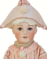 Rare Antique French SFBJ Jumeau Doll Pink Polichinelle