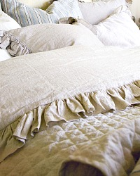 Pom Pom at Home Charlie Organic Linen Duvet Cover