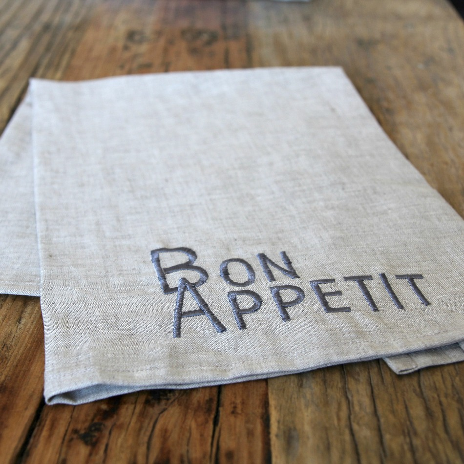Natural Linen Bon Appetit Napkins Set of 4