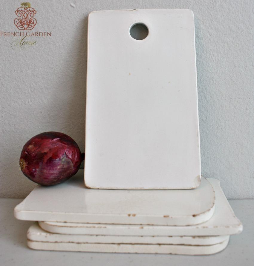 Antique Porcelain Onion Board Gilt