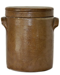 Antique French Stoneware Preserving  Storage Jar