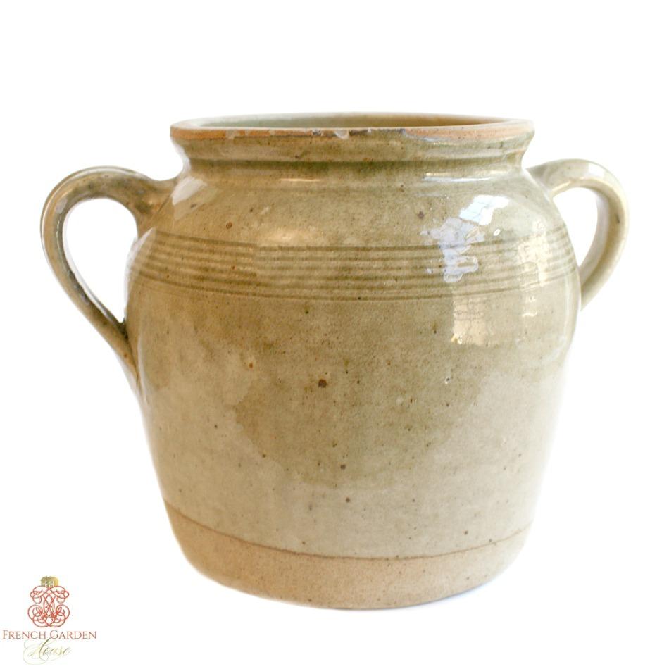 Antique French Pot en Gres Enameled Storage Crock Jar Brittany 5