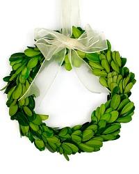 "Petite Miniature 6"" Preserved Boxwood Wreath"