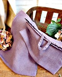 Belgian Linen Bistro Towel Late Blooming Lavender