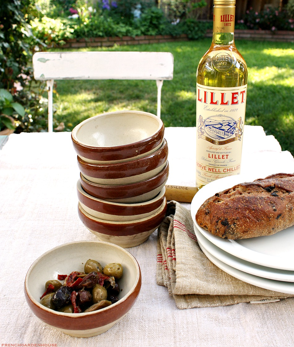 Vintage French Provence Olive Bowl