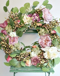 Luxurious French Spring Country Romance Wreath Rose