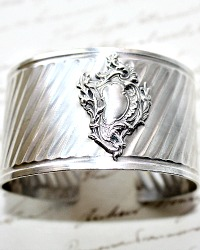 Antique French Sterling Cuff Bracelet
