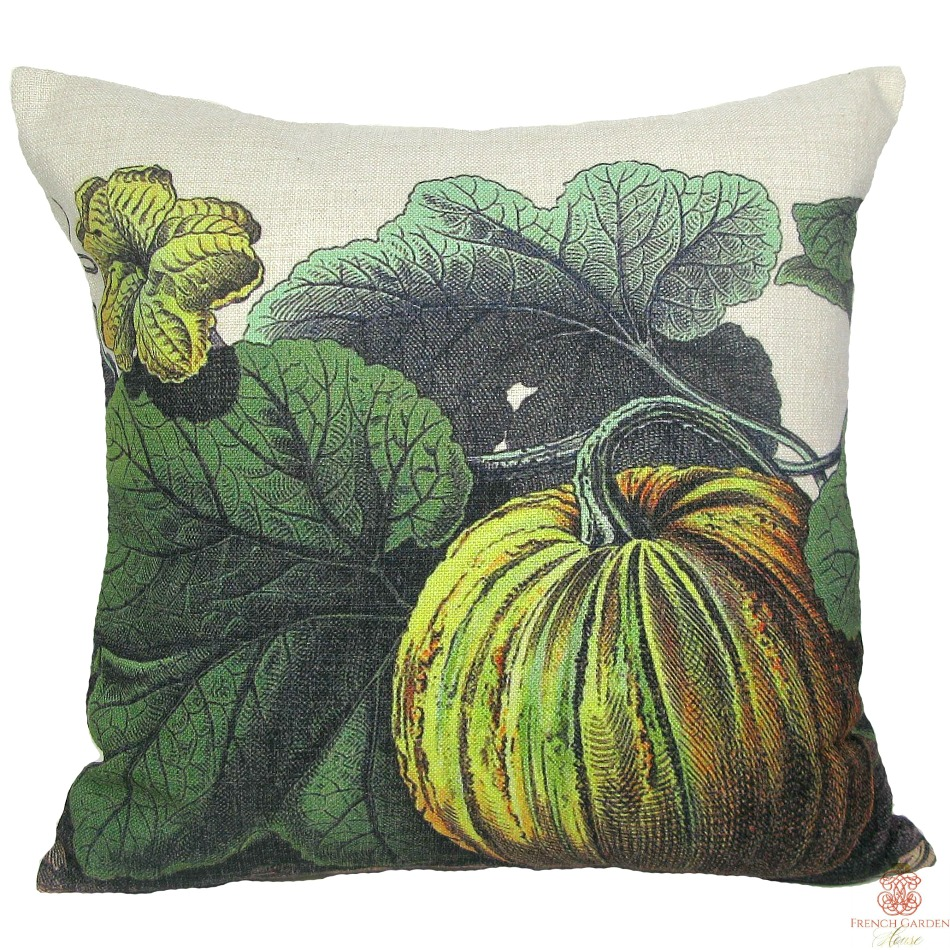 Green Gourds Pillow Cover-last few!