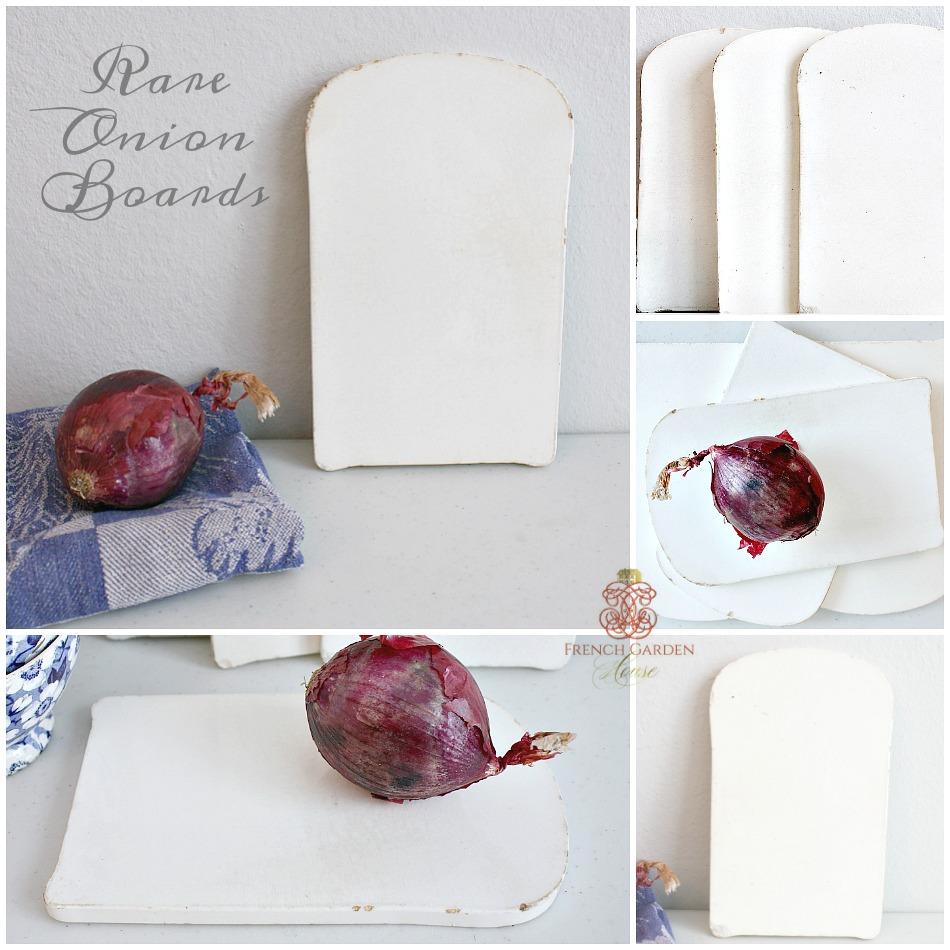 Rare Antique French White Porcelain Onion Board