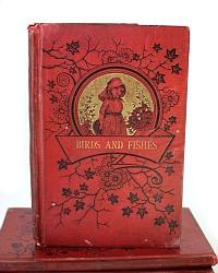Antique Red Children's Primer Books Set of 4