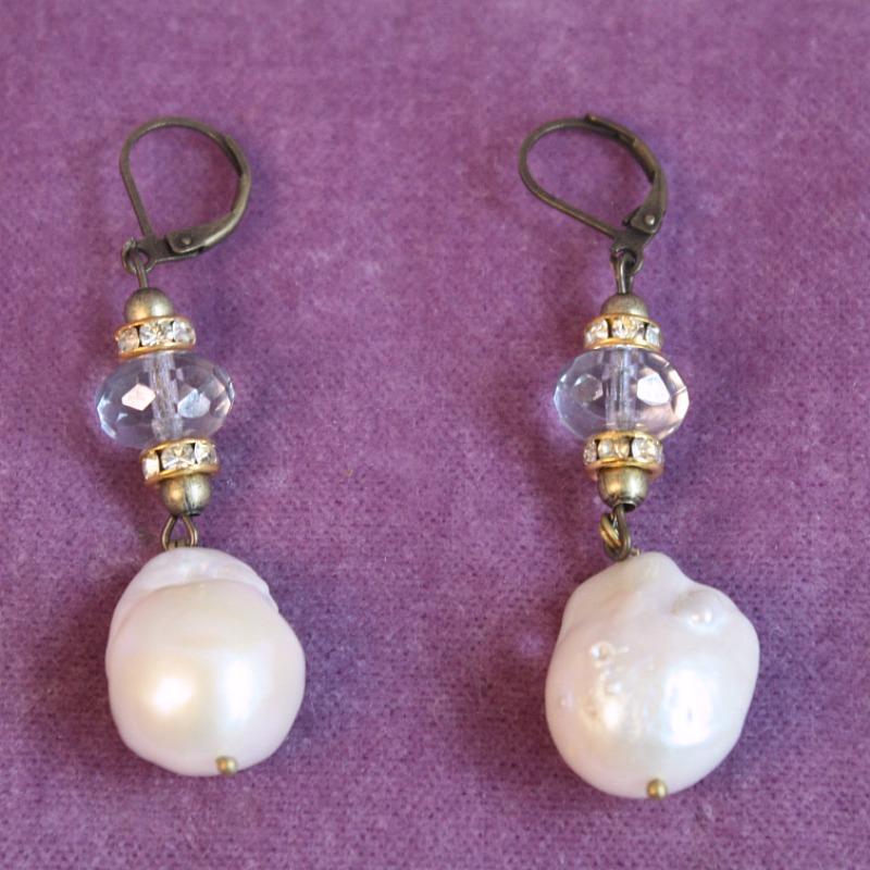 Creme de La Mer Baroque Pearl Earrings