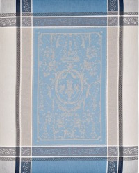 French Rococo Light Blue Drying Tea Towel Birds