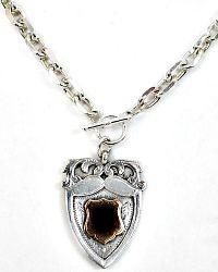 Antique Heirloom Estate Collection Sterling Award Fob Necklace