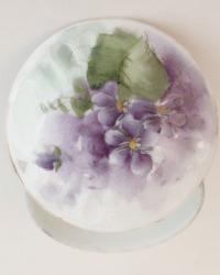 Antique Hand Painted Violets Ring Box Rosenthal Porcelain