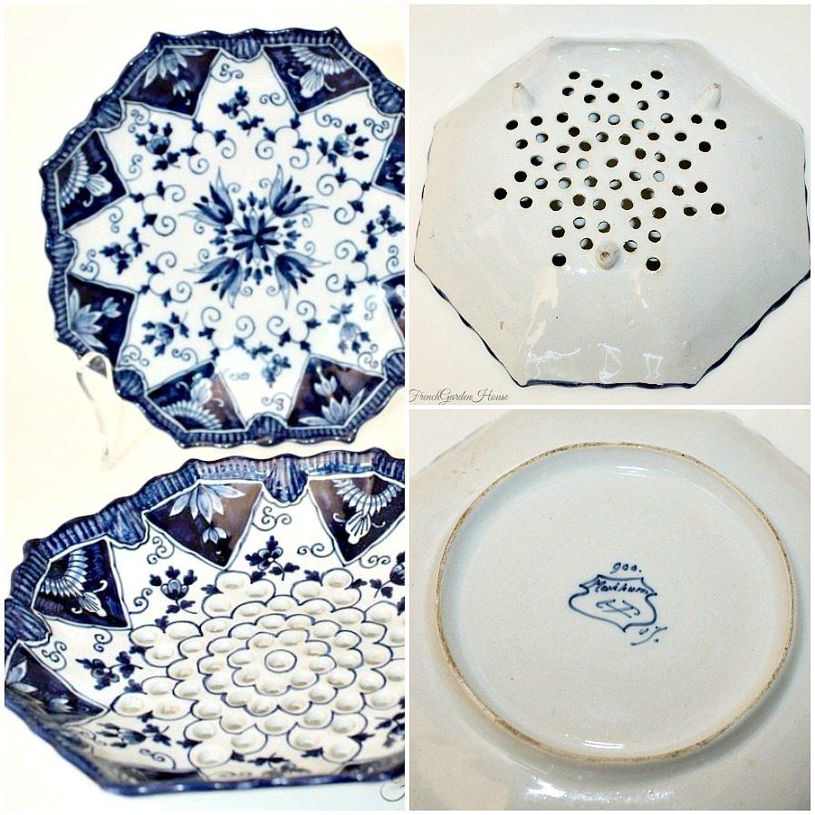 Royal Tichelaar Makkum Blue & White Hand Painted Fruit Strainer