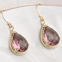 Royal Plum Teardrop Earrings