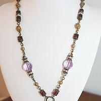 Sacred Treasure Necklace Lavender Dreams