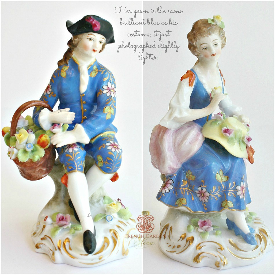 Pair of Antique French Samson Chelsea Style Porcelain Figures