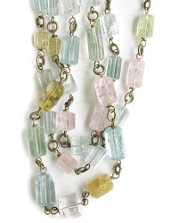 Beryl, Aquamarine and Morganite Necklace