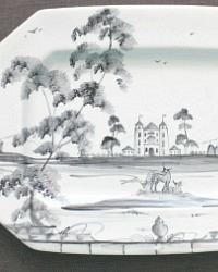 Exceptional Octagonal Platter Hand Painted Deborah Sears