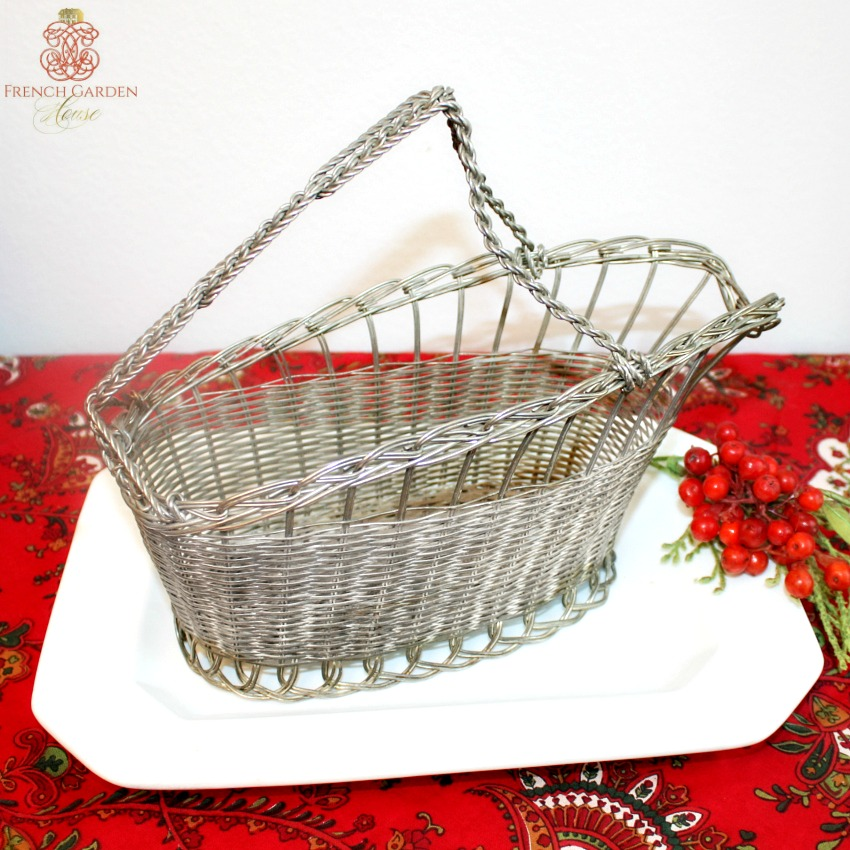Antique Silver Plated Wine Bottle Cradle