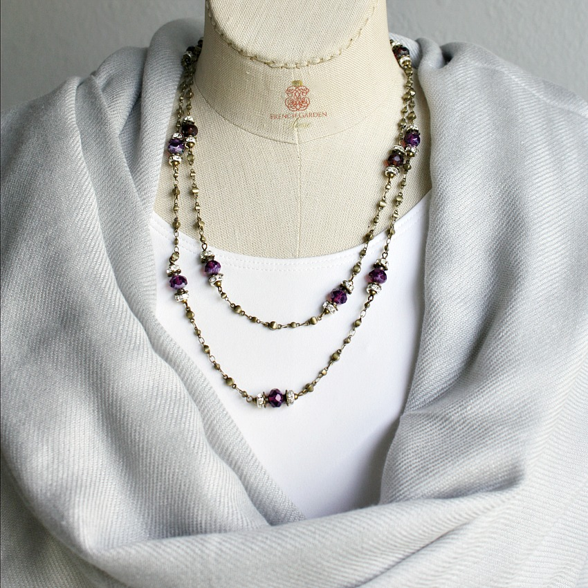 Georgia Hecht Signature Amethyst Wrap Necklace