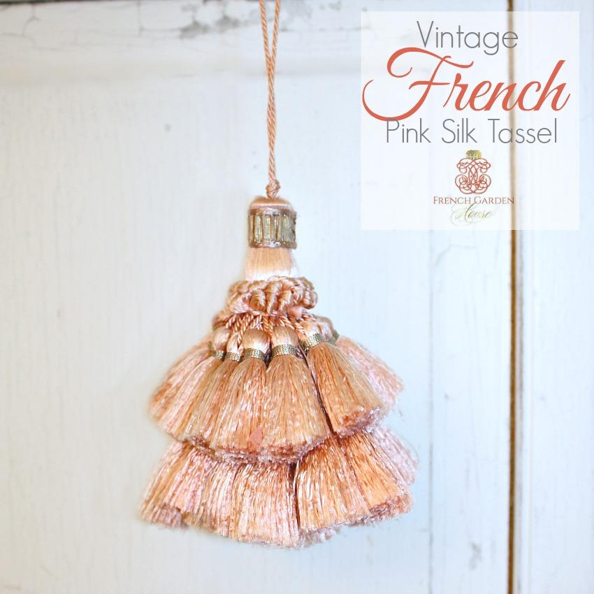 Vintage French Versailles Rose Tassel