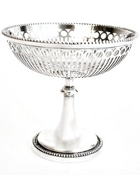 Reticulated Silver Plated BonBon Server