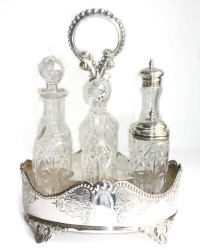 Stunning Silver Plated Cruet Set and Holder