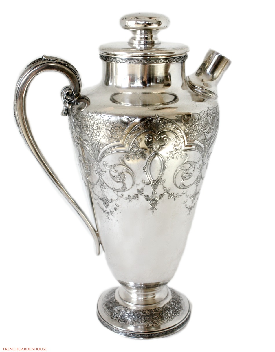 Large Art Deco Silver Plate Cocktail Shaker