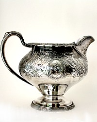 Duchesse Regency Revival Silver Floral Chased Water Pitcher
