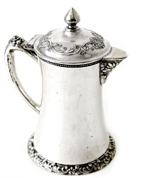 Antique Quadruple Plated Single Service Coffeepot