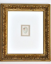 Miniature Egg Print in Vintage Gilt Frame