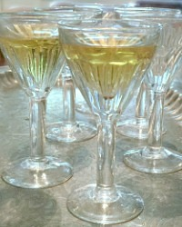 Antique French Cafe Society Stemware Aperitif Set of 6
