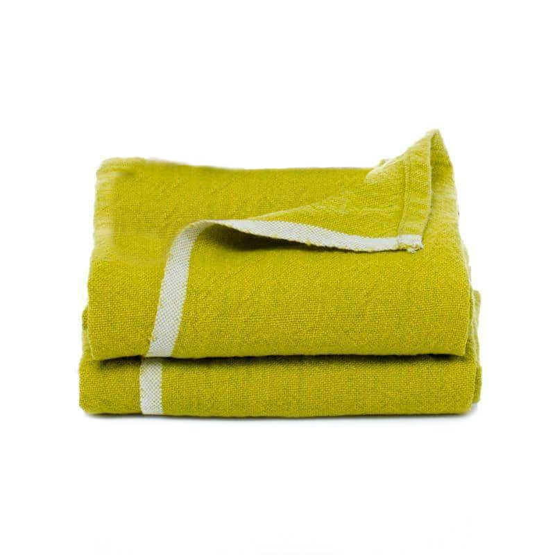 French Country Chartreuse Green Linen Runner