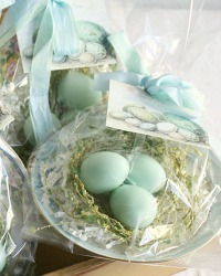 Blue Robin's Egg Soaps & Antique Dish