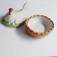 Staffordshire Hen on Nest or Basket Tureen, 19th Century, England