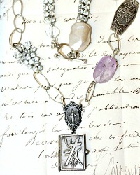 French Stations of the Cross Book Locket Necklace