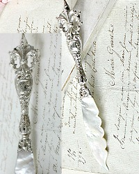 Antique Sterling and Mother of Pearl Letter Opener