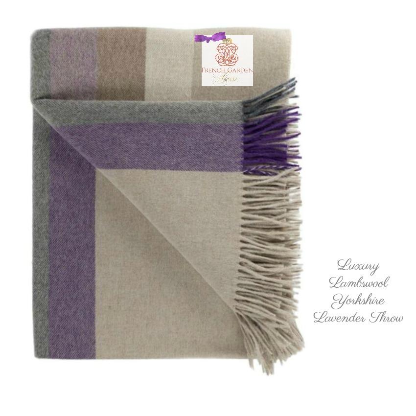 Luxury Lambswool Yorkshire Lavender Throw