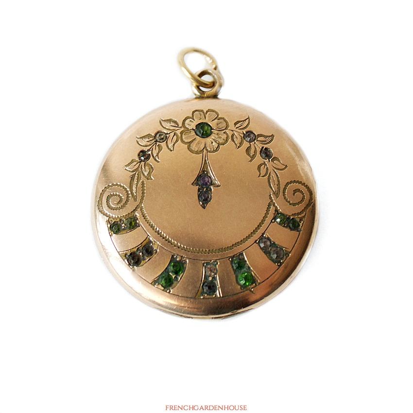 Antique Edwardian Round Suffragette Locket