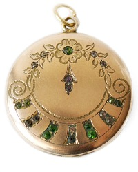 Antique Edwardian Round Suffragette Locket