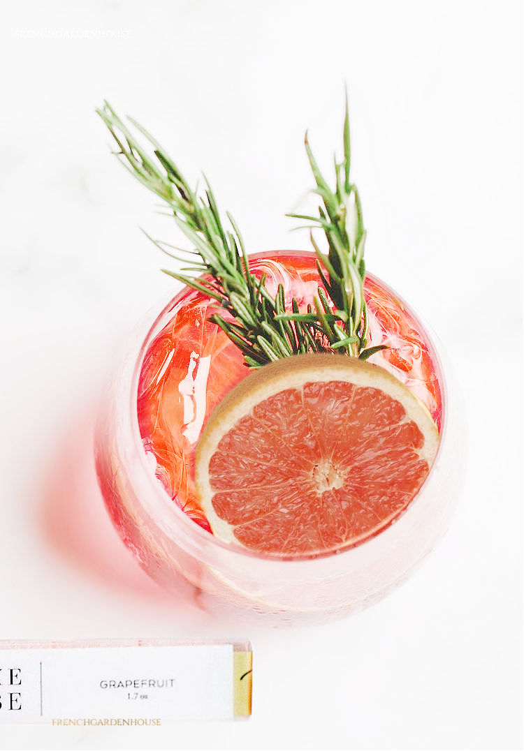 Luxury Grapefruit Cocktail Cubes for Gin Fizz